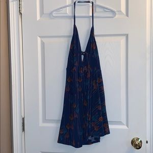 Never worn! Free People Halter Feather Dress